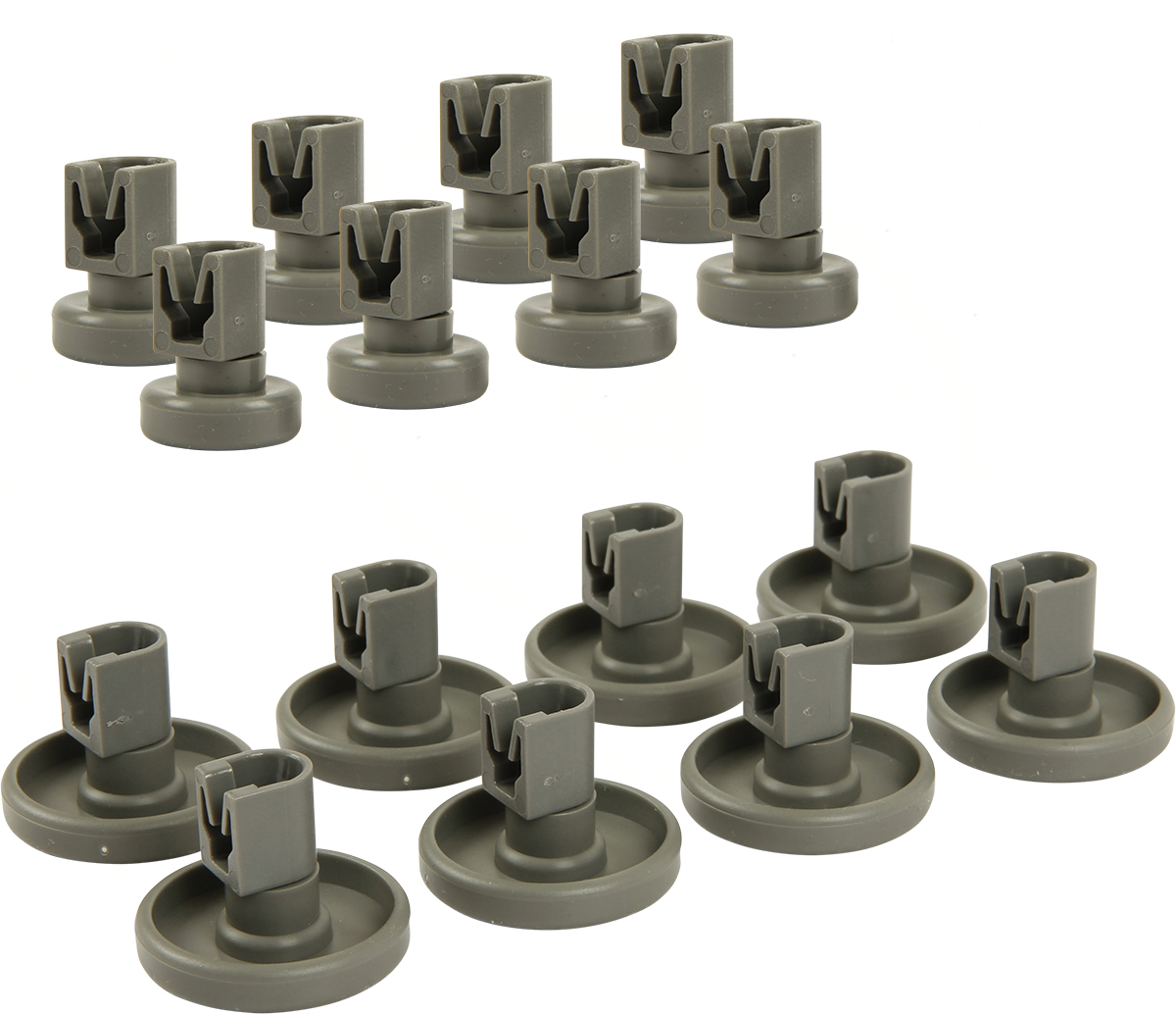 2x 8 Geschirrspüler Korbrollen Unterkorb Oberkorb für AEG Privileg Spülmaschine