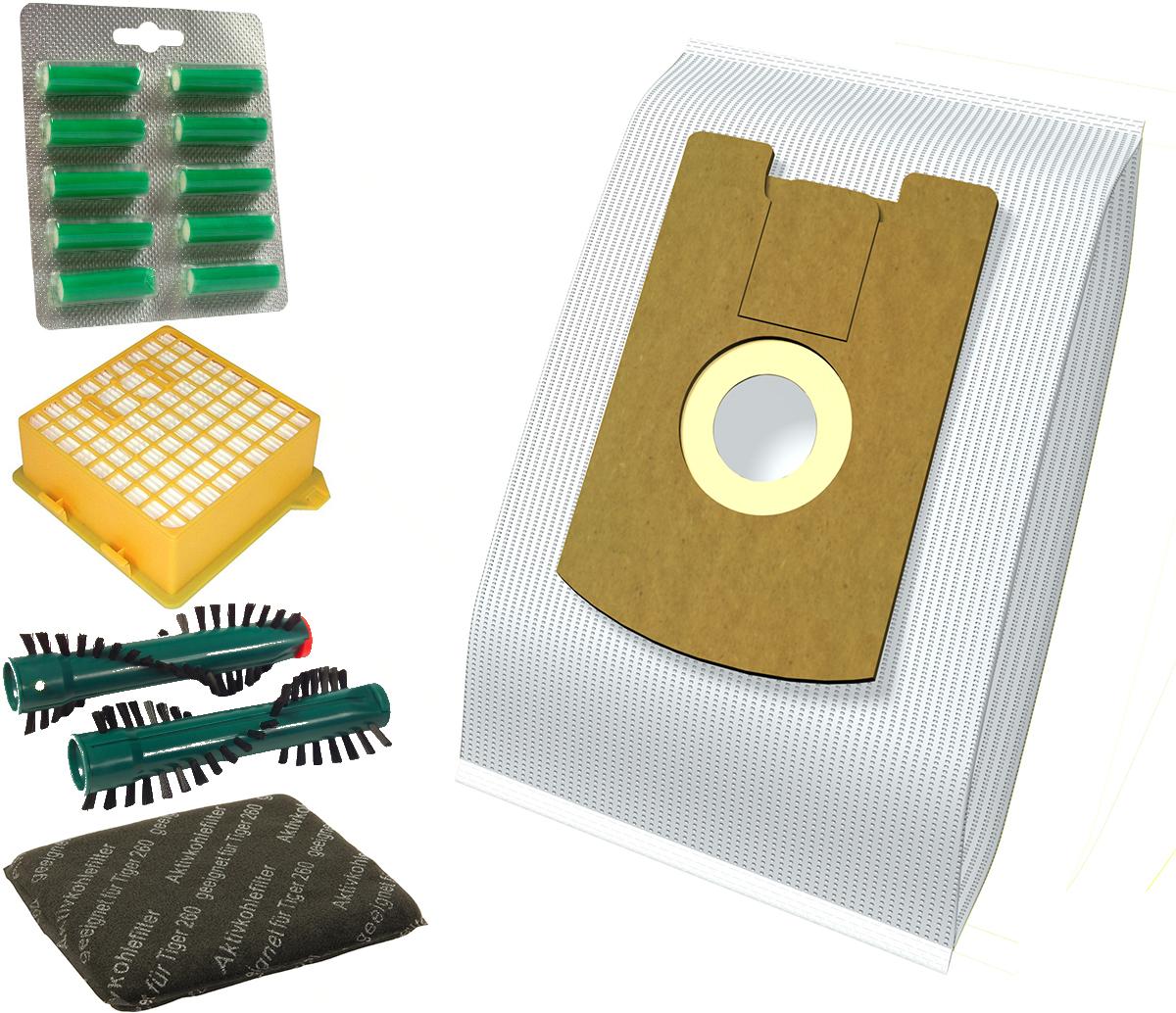 30 Staubsaugerbeutel geeignet für Vorwerk Kobold VT 265 Filtertüten Bürsten