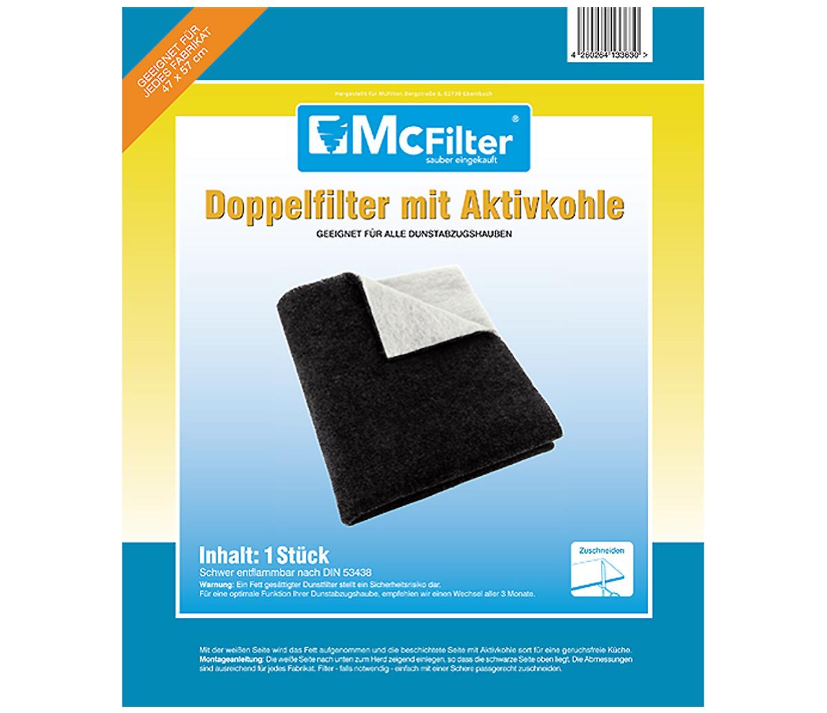 2 x Universal Aktivkohlefilter Kohlefilter Fettfilter Dunstabzugshaube