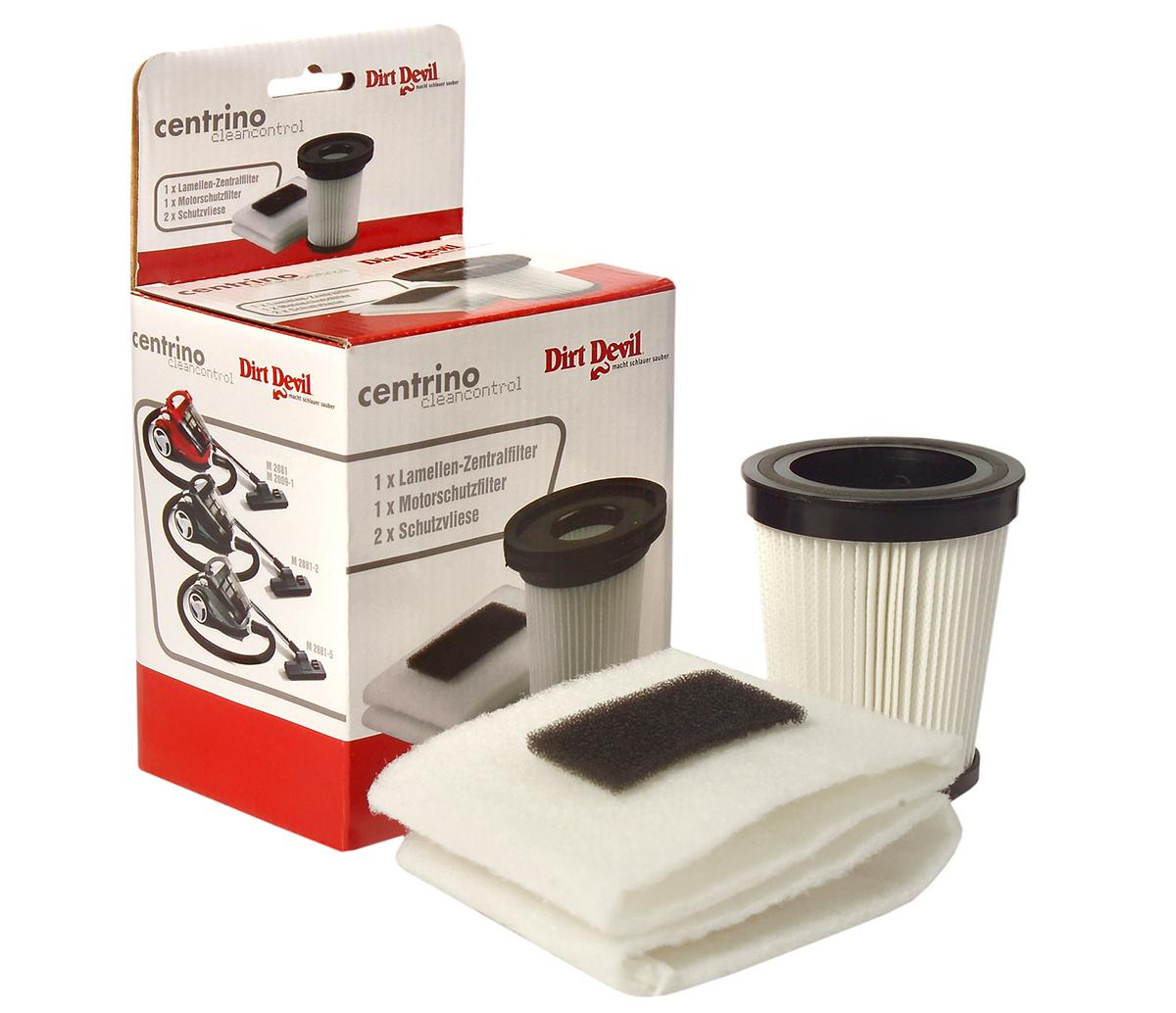 Filter Motorschutzfilter 2 Vlies Set Staubsauger Orginal Dirt Devil 2881001